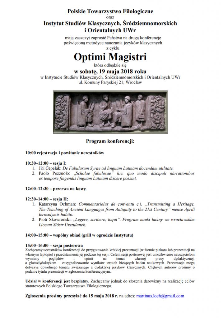 Optimi Magistri - Wratislavia