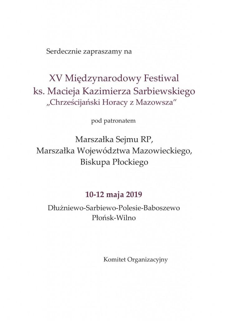 Zap. Festiwal ks. M. K. Sarbiewskiego 2019-3